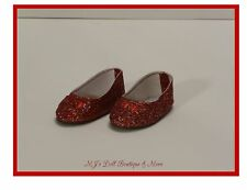 Sparkle Ruby Red Slip On Shoes fits American Girl Doll