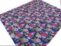 Dessus de lit indien Couvre-lit Brodé à la main Kantha Couverture Fleurs K3