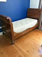 Antique Victorian Mahogany Single Sleigh Bed
