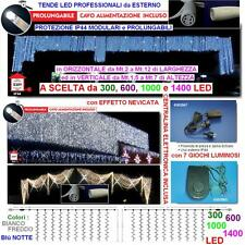 TENDA PROFESSIONALE Cm.200L x 500H 1000 LED BLU' PROLUNGABILE + CENTRALINA IP44