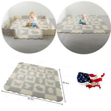 Baby Play Mat with Fence Interlocking Foam Floor Tiles with Crawling Mat Usa Wf
