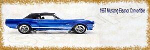 "1967 Mustang Eleanor Convertible Metal Sign 6"" x 18"""