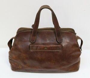 The Bridge Rustic Vintage Beautifully Aged Women's Tan Leather Handbag