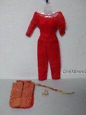 Vintage 1965 Barbie B/W Tag Hostess Set # 1034 Tabard Jumpsuit belt Shoes