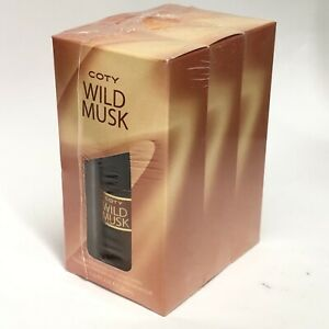3 Bottles COTY Wild Musk Concentrated Women's Cologne Spray 1.0 fl oz Each