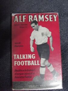 ALF RAMSEY TALKING FOOTBALL BOOK FIRST EDITION IN JACKET