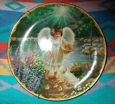 """Used Bradford Exchange Dona Gelsinger Collectible """"An Angel's Warmth Plate"""""""