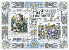 Feuillet F5067 - Les grandes heures de l'Histoire de France - Drap d'or - 2016