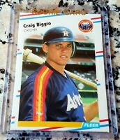 CRAIG BIGGIO 1988 Fleer Update Rookie Card RC $$ Houston Astros HOF 3060 Hits $$