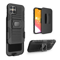 Case for Apple iPhone 12 Pro Max Case with Temper Glass Holster Belt Clip Magnet