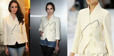 NWT $4345 FABULOUS CHANEL 12P ECRU WHITE BLACK PEARL RUNWAY JACKET 46 48