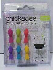 NEW - Chickadee Wine Glass Markers Chick Bird Charm 6 pc True Fabrications