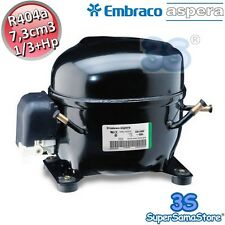 3S MOTORE Compressore FRIGOR R404A 1/3 Hp 7,3 cm3 Embraco Aspera NEK6181GK CSIR