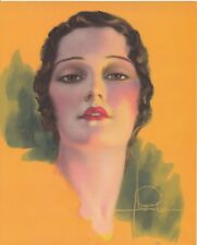 Rolf Armstrong Untitled Flapper Girl Lithograph 1930 Sutherland Press Vintage