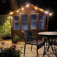 Valiant LED Garden Lights - 10m - 25 x E12 G40 Bulbs - UK Plug - Mains Powered