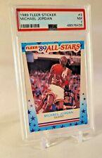 1989 Fleer Sticker #3 Michael Jordan PSA 7 NM HOF GOAT