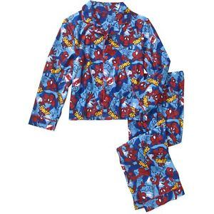 Spiderman  Marvel 4 5 XS  2 piece Sleepwear boys Flannel Pajamas Set New