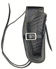 George Lawrence Leather Gun Holster Colt Police 79D 526 Basketweave RH 2011-NR