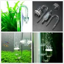 1Set Aquarium Fish Tank CO2 Diffuser Check Valve U Shape Glass Tube Suction Cup