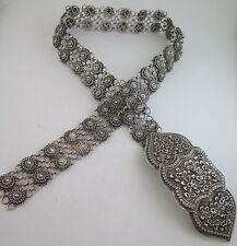 """Ultra HEAVY 327.6 Gram Ornate Solid Sterling Silver 32"""" Floral Link Belt"""
