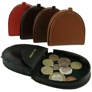 Handy Mens Gents Leather Coin Tray Change Holder Wallet Purse in 3 Colours