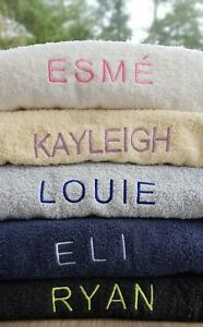 Luxury Embroidered Personalised Face Cloth Hand / Bath Towel Bath Sheet or Set
