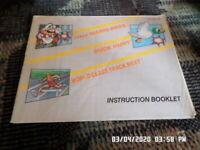 Super Mario Bros. Duck Hunt Track Meet (NES Nintendo) Manual Only.. NO GAME