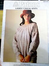 PATONS LACE CASUAL KNITS CARDIGAN & JUMPER 8 PLY  NO. 1077 LEAFLET