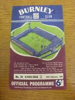 25/02/1967 Burnley v Chelsea  (Score Noted On Cover & Team Changes). Unless prev