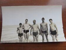 Vintage Beach Photographs 1930s Sunbathing Seagulls Boat Children Sand #8998