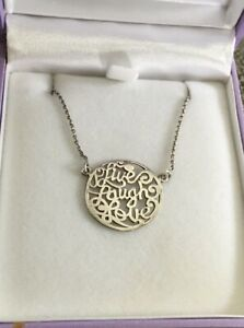 Goldmark 925 Sterling Silver Necklace 'Live Laugh Love'