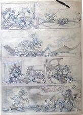 Hector Adolfo de Urtiága  Dingo Planche 43 ( étude originale) Mickey Disney