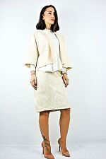 Damen Ex Karen Millen Creme Bestickt 2 teilig Rock & Blazer Anlass Anzug 10