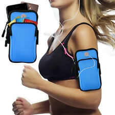 Gym Sport Running Jogging Armband Arm Band Pouch Holder Bag for iPhone 7/8 Plus Blue