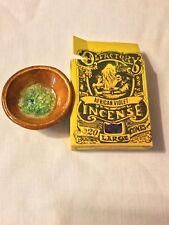 Vintage unused ceramic stone cone incense burner plus African Violet incense