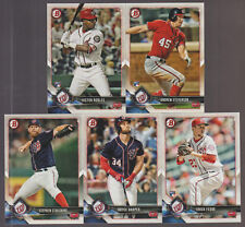 2018 WASHINGTON NATIONALS 40 Card Lot w/ BOWMAN TEAM SET 26 CURRENT Players