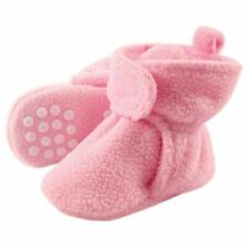 Luvable Friends Girl Fleece Booties, Light Pink