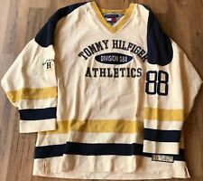Tommy Hilfiger Athletics Division 88 Hockey Jersey THL Crest Shirt Men's XL