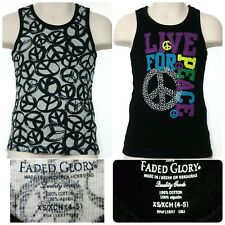 PEACE SIGN, tank tops, Size: 4-5,  XS, Extra Small. SO CUTE, Lot of 2