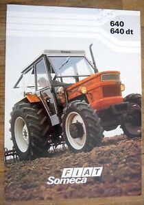 BROCHURE PROSPECTUS FIAT SOMECA TRACTEUR AGRICOLE 640 - 640 dt PROSPEKT