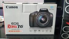 Canon Rebel T6 dSLR camera kit, 18MP, w/18-55mm lens (NEW)