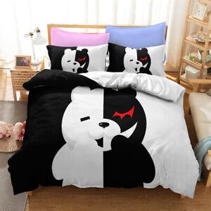 Anime Dangan Ronpa monokuma Bedding Set Duvet Cover Pillowcase Bedclothes Gift