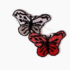 """Applikation """"Schmetterlinge"""", zum Aufbügeln, Aufbügler, Patch Aufnäher ca. 4x4cm"""