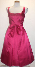 1950 Vintage Scaasi Neiman Marcus Couture Silk Fuschia Red Bow Petticoat Dress