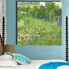 Frameless Flowers Trees Graden Canvas Oil Painting Wall Art Pictures Home Decor