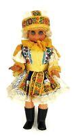 "Vintage Czech Republic Doll Embroidered 18"" Folk Costume Art Doll"
