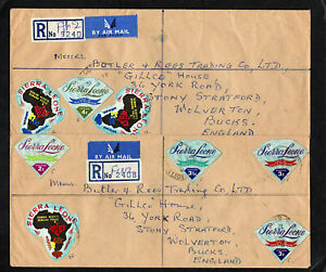 SIERRA LEONE - 1972 - TWO REGISTERED COVERS TO ENGLAND - WITH FREETOWN POSTMARKS