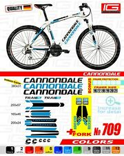 CANNONDALE bike stickers, ALL COLORS AVAILABLE,  bike frame sticker set + fork