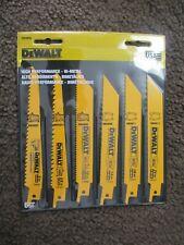 DEWALT DW4856 Metal/Woodcutting Reciprocating Saw Blade Set 6-Piece
