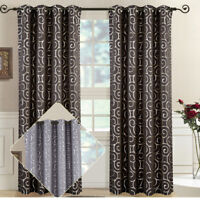 Abstract Tuscany Grommet Curtain Panels (pair)